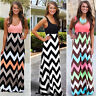 US Women's BOHO Long Maxi Evening Cocktail Party Summer Beach Dress Sundress New