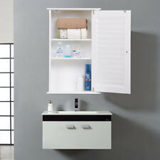 white wall cabinet storage home organizer bathroom cupboard kitchen mount new