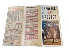 1970 NEW YORK YANKEES ROSTER WITH SPRING TRAINING & REGULAR SEASON SCHEDULE