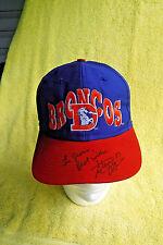 VINTAGE/NEW! STEVE ATWATER, DENVER BRONCO'S OLD LOGO AFTER GAME SIGNED CAP/HAT!