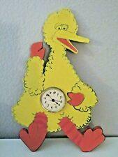 "Vintage Handmade 16"" Wooden Sesame Street Big Bird Clock-Hobby Piece"