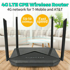 4G Lte WiFi Router Hotspot Cat4 300Mbps Sim Card Cpe Usa Band T-Mobile At&T New
