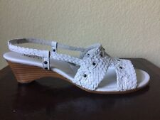 SESTO MEUCCI Size: 10.5 New NANETTE White Leather Sandals, Shoes MADE IN ITALY