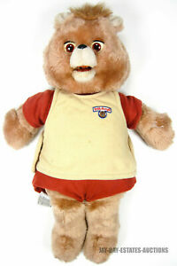 RARE VINTAGE TEDDY RUXPIN BEAR DOLL 1984-1985 **DAMAGES*PARTS ONLY*NOT WORKING**