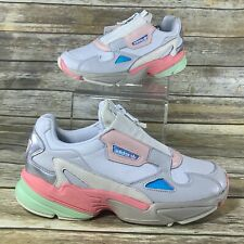 Adidas Originals Falcon Zip [ EG6740] Women Casual Shoes White/Grey-Rose Size 10