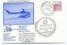 Polarstern ANTARKTIS V Helicopter BO-105 Polar Antarctic Cover SIGNED