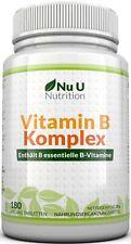 Vitamin B-Komplex alle 8 B-Vitamine Tablette  B1 2 3 6 9 12  D-Biotin & Folsäure