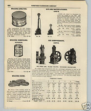 1927 PAPER AD Gas Gasoline Service Station Air Water Compressor Pump Glass Globe