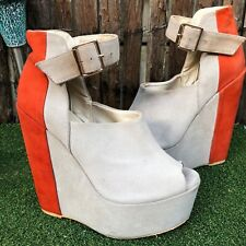 Sportsgirl Leather Wedges High Heel size 7
