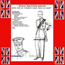 Trent / Matt / Fm Royal Groom Wedding Uniform sewing Pattern Prince William