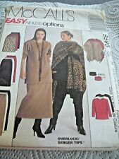 McCall's 4606 Sz 22-26W Tunic/Top/pants/Skirt/Cowl EASY Uncut  Sewing Pattern