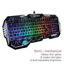 SAREPO Semi Mechanical Gaming Keyboard Led Music Equalizer Mode 9 Multicolor Bac
