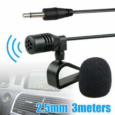 Microphone 2.5mm For Car Audio Stereo GPS DVD Bluetooth Enabled External Mic New