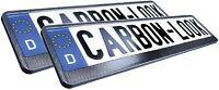 2 Stück Carbon Design Kennzeichenhalter Schildhalter Nummernschildhalter von HP