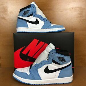 Air Jordan 1 Retro High OG University Blue North Carolina Mens 11 555088-134 NEW