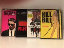 Quentin Tarantino Dvd Lot Reservoir Dogs Pulp Fiction Kill Bill Free Shipping