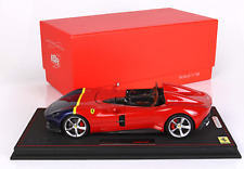 BBR Ferrari Monza SP2 Red, Blue, & Yellow 1:18 LE 48pcs*Brand New!*-Sold Out!