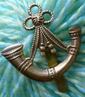 Oxfordshire & Buckinghamshire Light Infantry Cap Badge All BRASS Slider