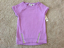 New DKNY Little Girls Frosted Lilac Top. Size 6