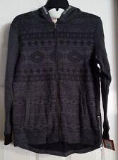 New Boys Heather Steel Gray Mossimo Long Sleeve ZipUp Hooded Jacket Size L 12/14