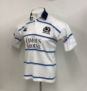 Scotland Rugby Shirt Canterbury Famous Grouse Away Jersey White Sz Medium Adult