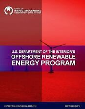 U. S. Department of the Interior's Offshore Renewable Energy Program by U. S....