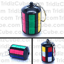 Whip It Tower Keychain Black 3 Layers Twisty Sliding Puzzle Cube Toy -US Seller-