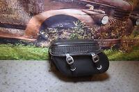 Saddlebag Harley Softail Leather Detach RH Leather Pros Basket Weave LP3280  X6