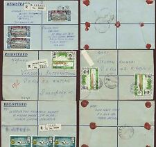 BRUNEI REGISTERED to SINGAPORE 3 ENVELOPES PICTORIALS FRANKING 1971-72