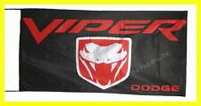 DODGE FLAG BANNER  VIPER challenger nigro 5 X 2.45 FT 150 X 75 CM