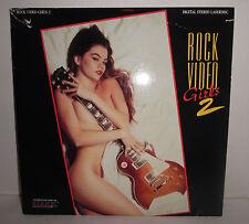 Rock Video Girls 2 Laser Disc Rod Stewart Motley Crue Bon Jovi Vtg 1992