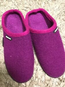 Giesswein Dark Purple Wool Slippers EUR 42 UK 7/8