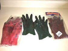 MONSTER HANDS LOT of 3. Latex Rubber Gloves Halloween Costume Set  Long Fingers