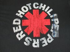 NWT - RED HOT CHILI PEPPERS - BAND LOGO -  LARGE BLACK T-SHIRT S472