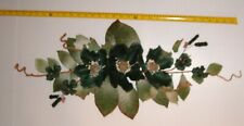 "Brand New 24"" Huntergreen Silk Magnolia / Berry Swag , Free Shipping !"