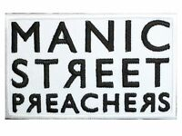 """MANIC STREET PREACHERS Embroidered Iron On Shirt Bag Badge Patch 3.5""""x2.2"""""""