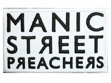 "MANIC STREET PREACHERS Embroidered Iron On Shirt Bag Badge Patch 3.5""x2.2"""