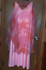 VINTAGE  SLEEVELESS GOWN WITH CREPE LIKE CAPE: WORN BY ANITA DARIAN