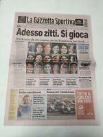 GAZZETTA DELLO SPORT 31 AGOSTO 2003 1° GIORNATA CAMPIONATO SERIE A