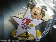 Disney Pin Pics 8636 100 Years of Dreams #100 Illinois Mickey Mouse Pin