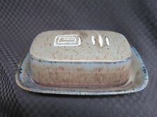 Mikasa Potter's Craft FIRESONG HP300 1/4lb Butter Dish w/Underplate, Japan (1)