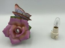 Rose And Butterfly Ceramic Night Light
