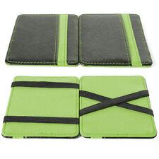 Magic Money Clip Trick Cash Wallet Credit Card Holder Pocket Faux Leather MT179