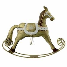 Golden Grandeur Golden Rocking Horse Christmas Ornament For Christmas Decorating