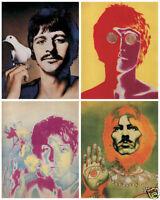 "HUGE 30"" x 24"" Beatles Psychedelic Poster"
