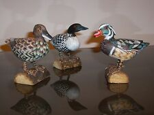 """- A pair of 4"""" standing ducks  and a standing loom duck, handmade in early 90's"""