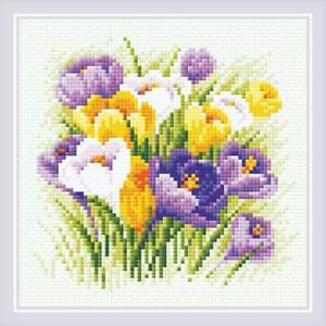 Diamond Mosaic Kit RIOLIS AM0060 - Crocuses