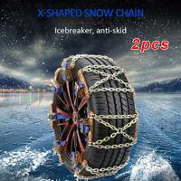 2pcs/set Universal Anti-slip Wheel Tire Snow Chain Accessories For SUV Car Truck