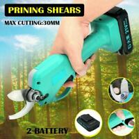 21V 45mm Cordless Electric Pruning Shears Li-ion Secateur Garden Branch Cutter