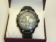 Accurist MS930BY Gents Skymaster Analogue/Digital Black Strap Watch RRP £175.00